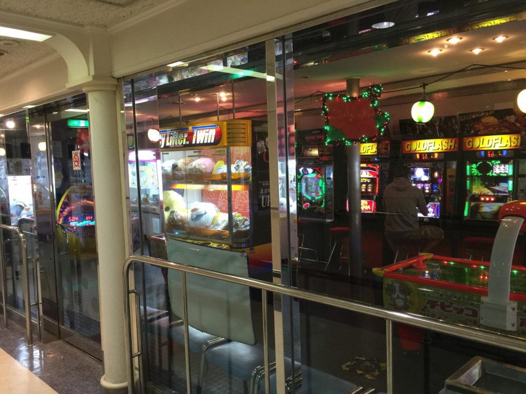 佐渡汽船フェリー内のゲームセンター