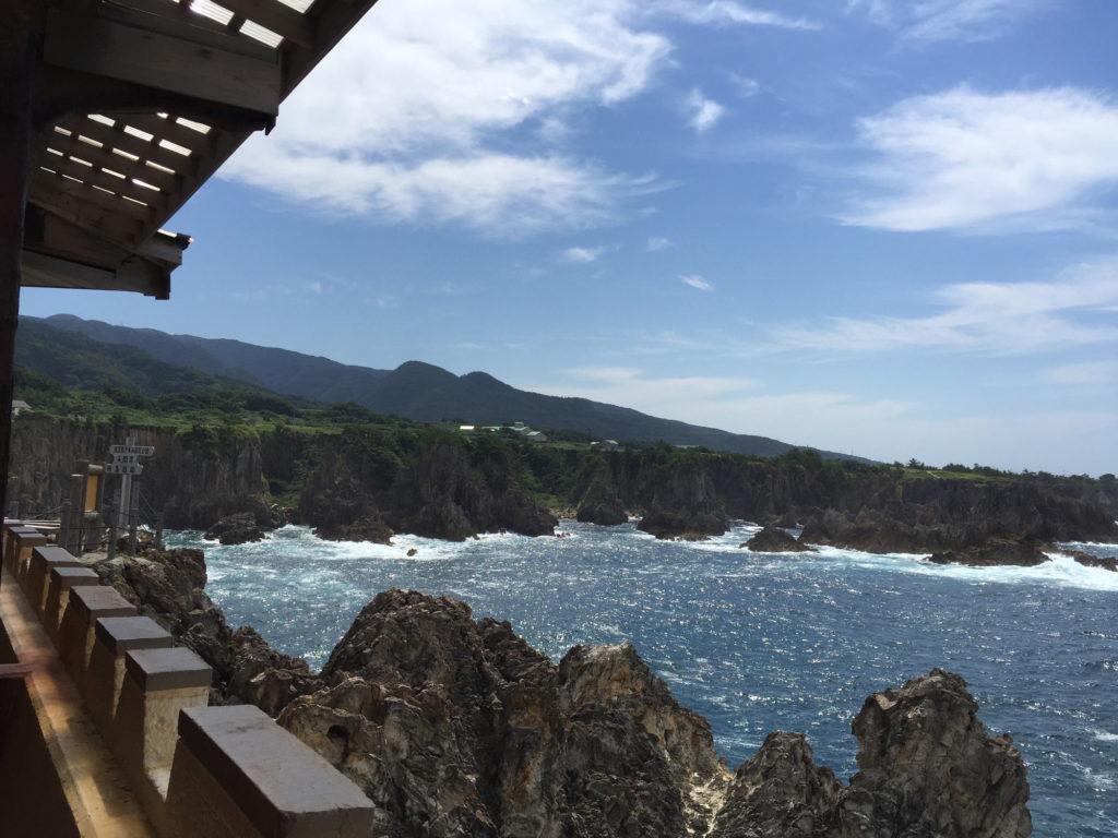 揚島遊園の展望台からの尖閣湾の眺め