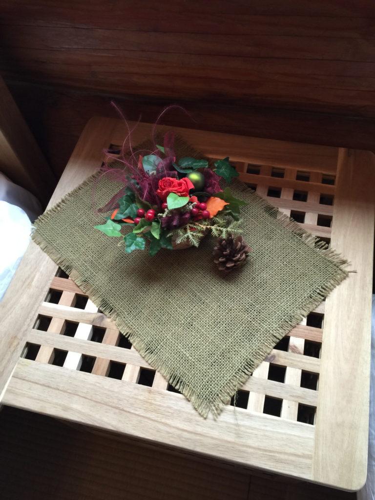 八丁湯の室内にあったお花のような飾り