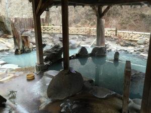加仁湯の女性専用露天風呂