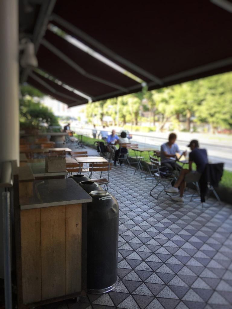 ル・パン・コティディアン 芝公園店のテラス席