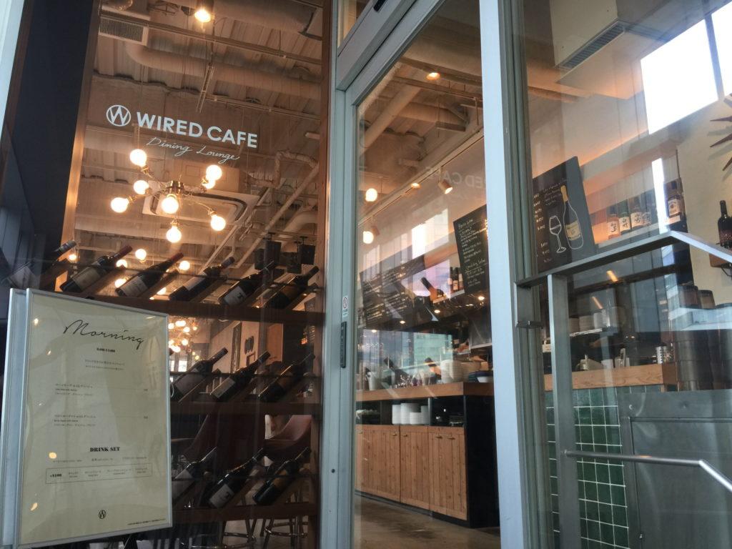 五反田WIRED CAFEの入口ドア