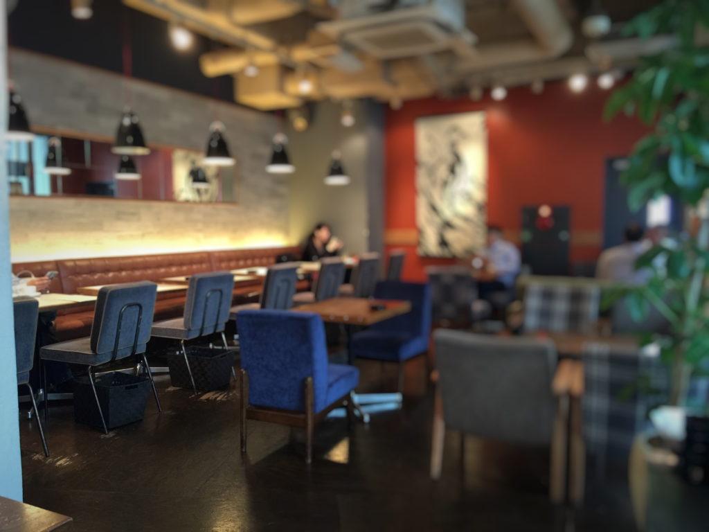 五反田WIRED CAFEの喫煙席