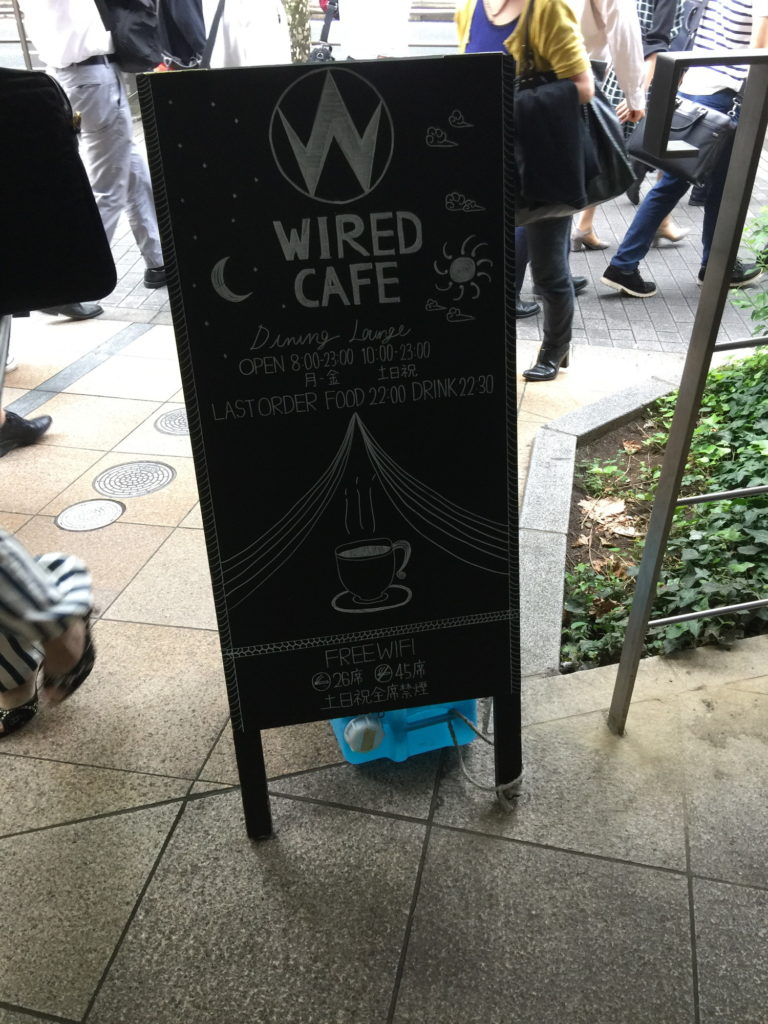 五反田WIRED CAFEの看板