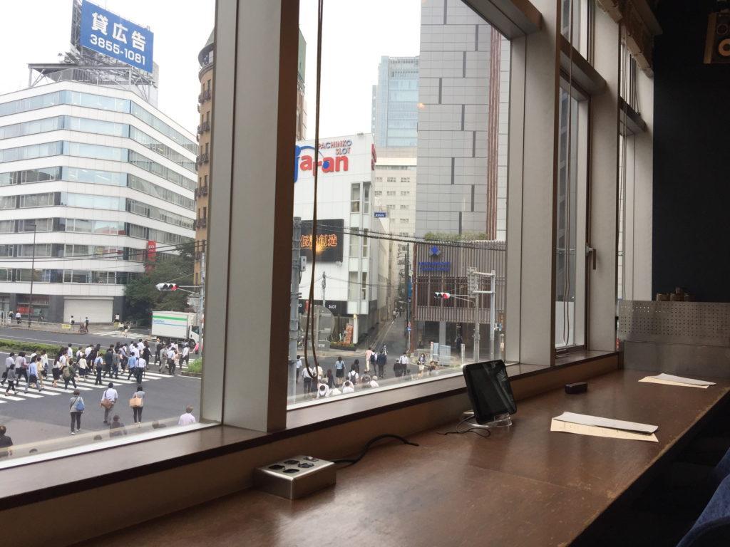 五反田WIRED CAFEの電源席