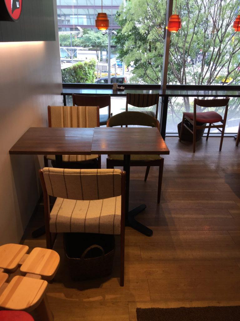 エール・エル ワッフル カフェ グランルーフ店の2階カフェ