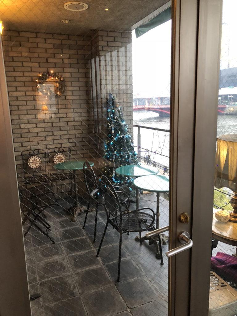カフェムルソー3階のテラス席