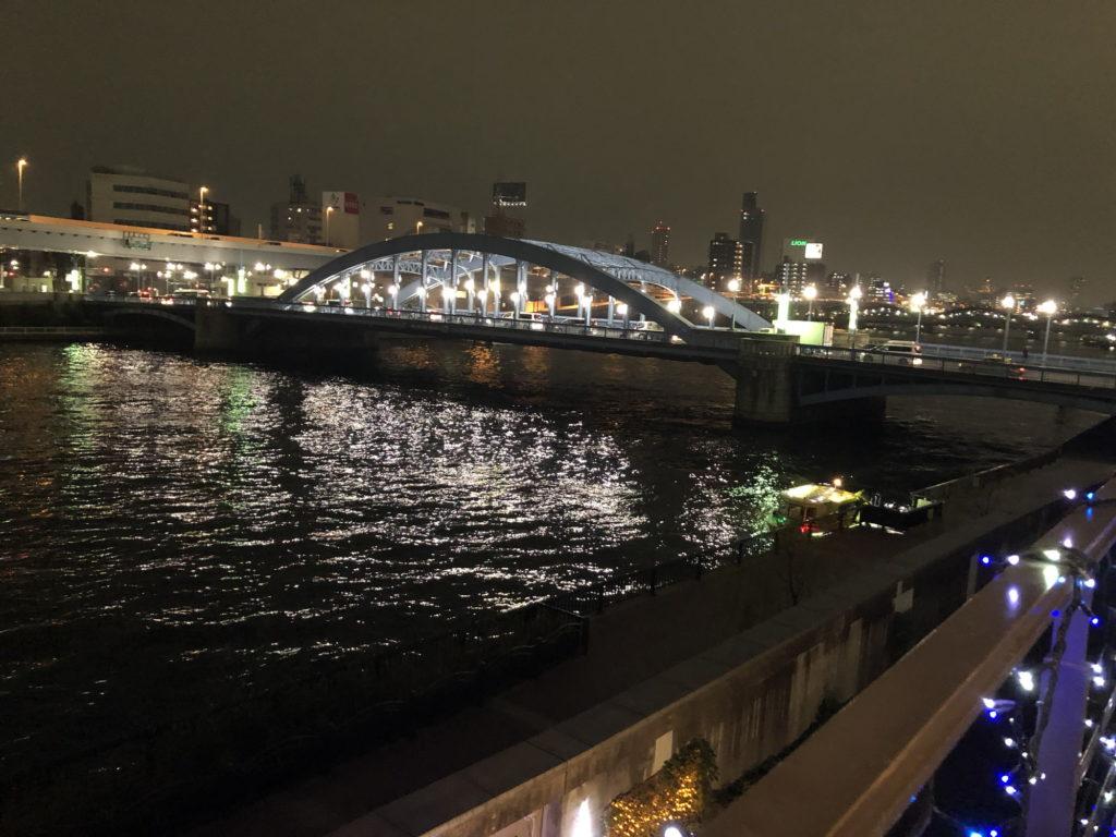 カフェムルソー3階テラス席からの夜景その3