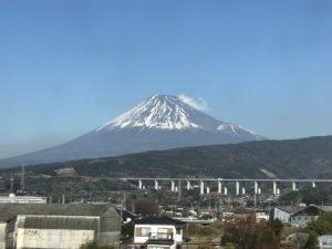 新幹線車内から見えた富士山その1