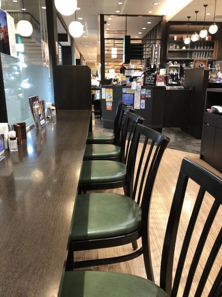 Cafe KOTOのカウンター席