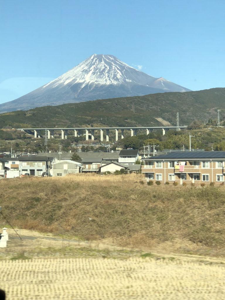 新幹線車内から見えた富士山その2