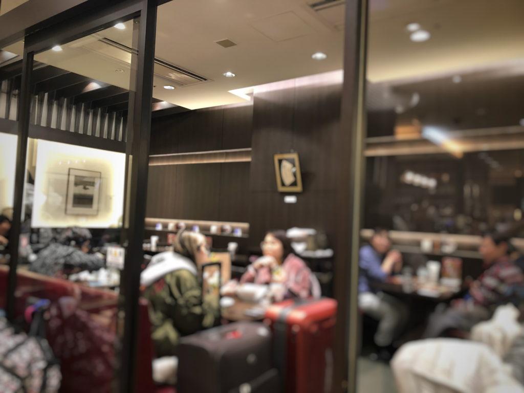 Cafe KOTOの奥の席