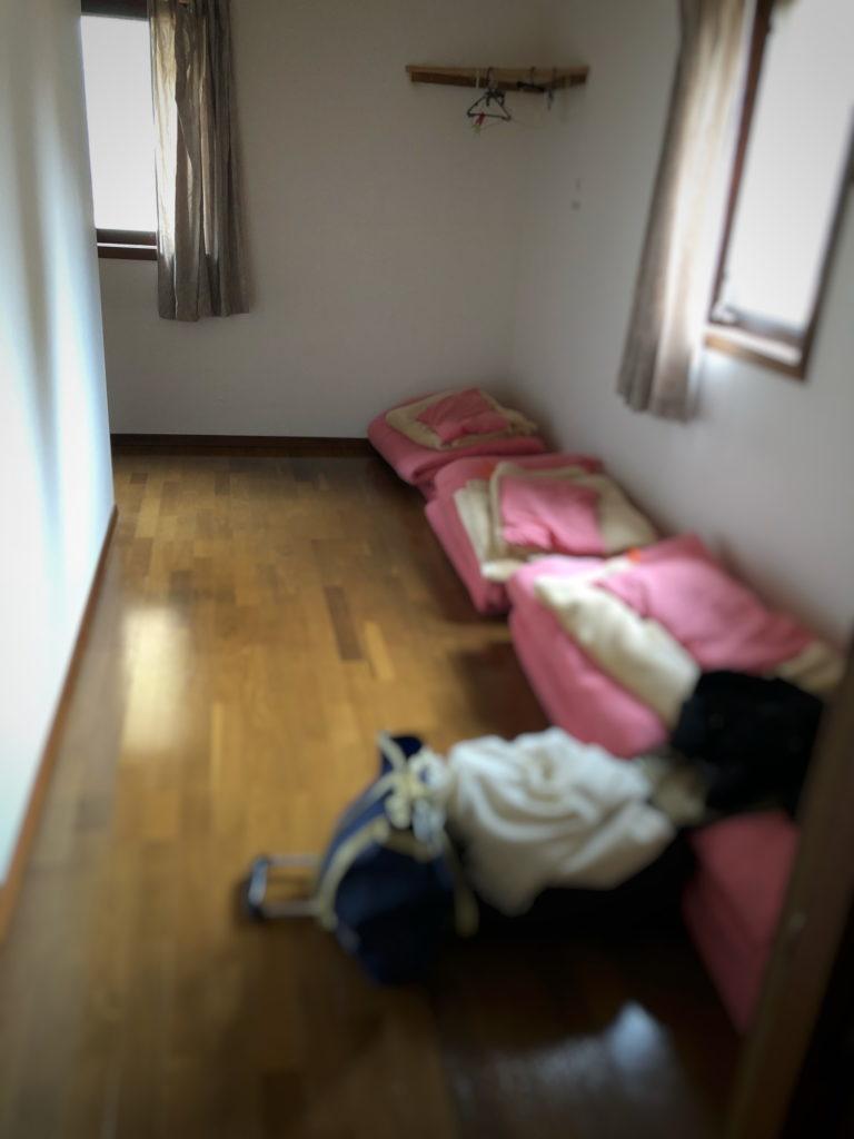 京都ダンマバーヌ宿泊棟の布団部屋
