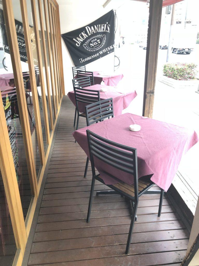 蔵前四丁目カフェのテラス席