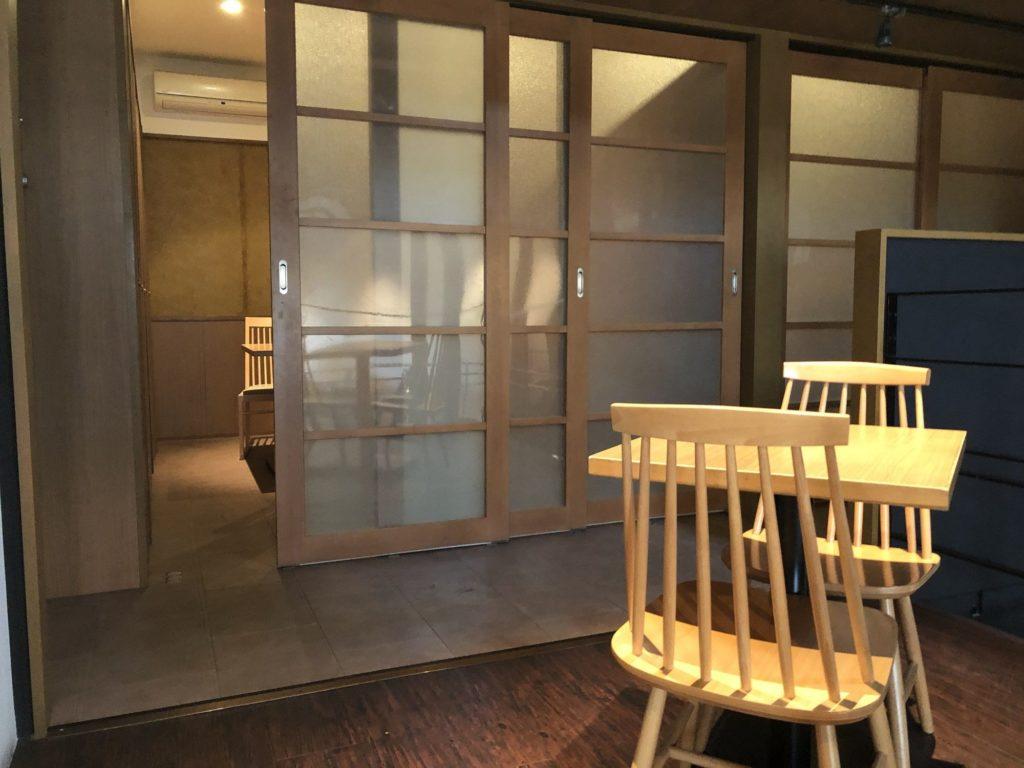蔵前四丁目カフェ2階奥の個室入口
