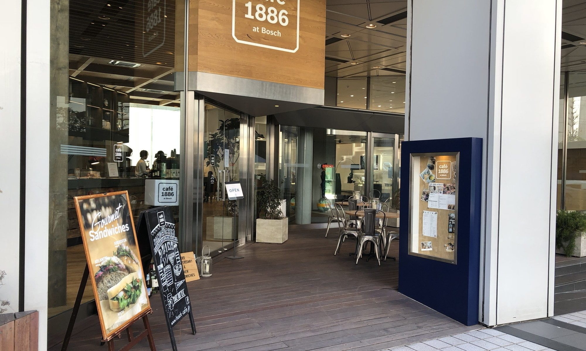 cafe 1886 at Boschの入り口