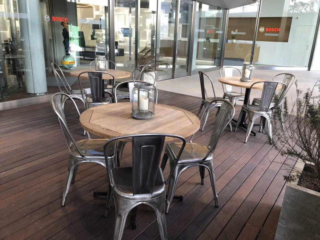 cafe 1886 at Boschのテラス席