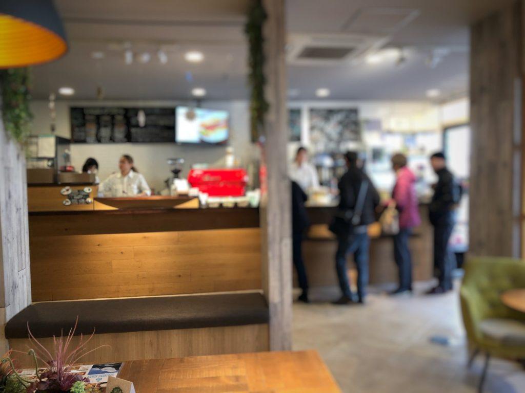 Oki Oki Cafeの注文カウンター