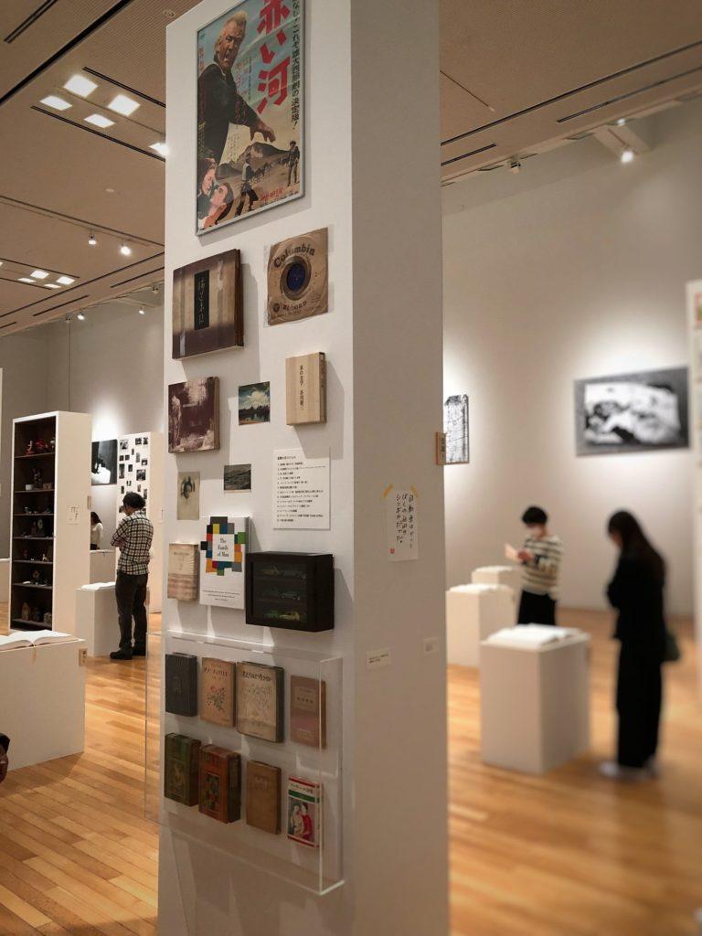 谷川俊太郎展で展示されていた、谷川氏が影響を受けたもの