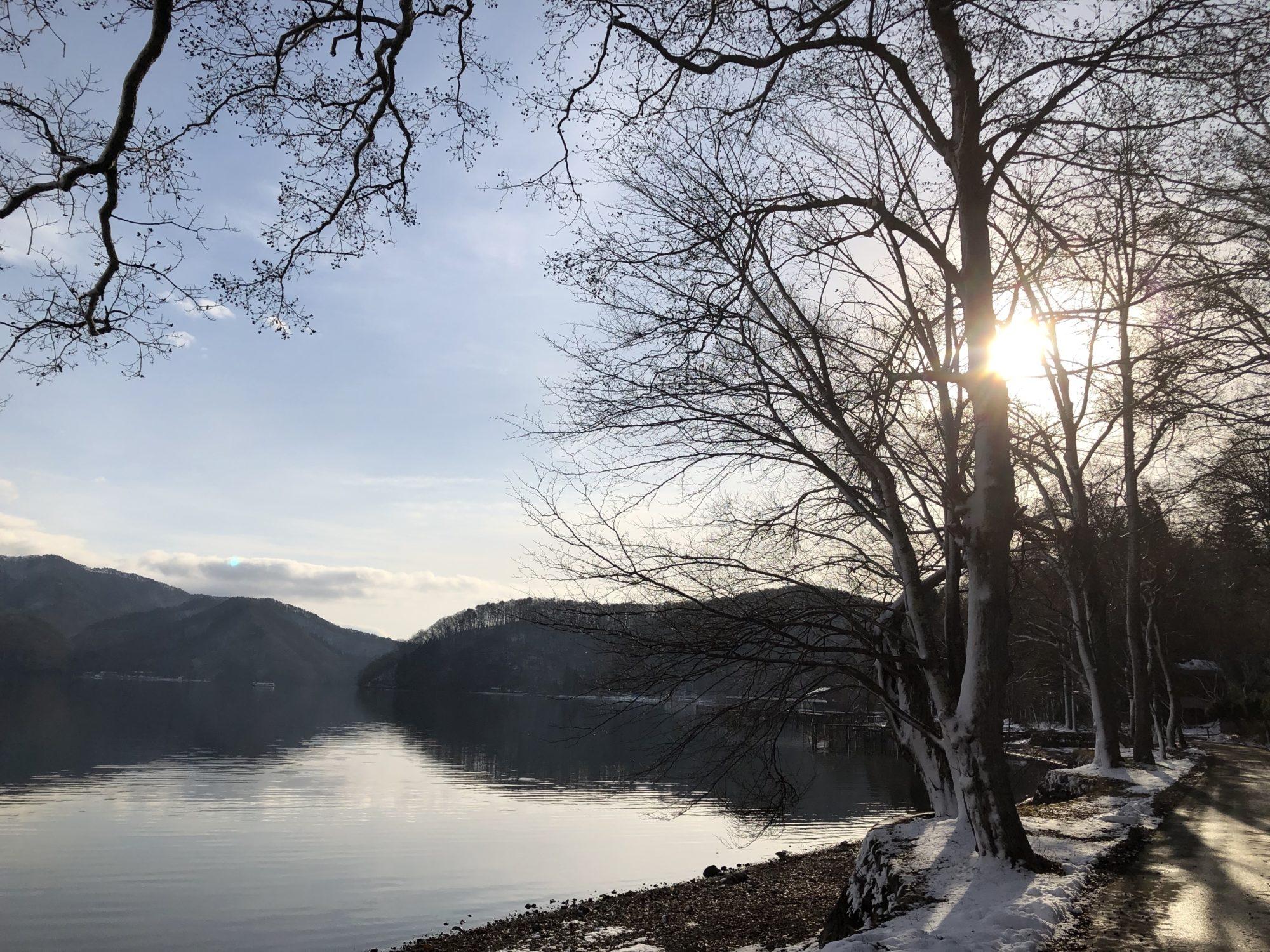冬の野尻湖